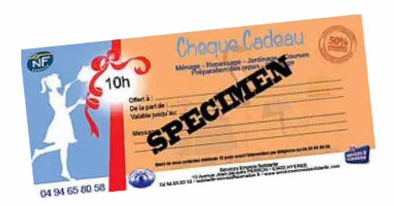 chèques cadeaux Chèques cadeaux ses specimen cheques cadeaux
